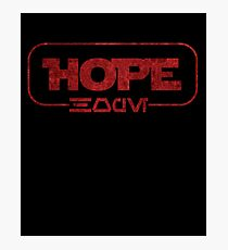 Hope (Aurebesh) Photographic Print