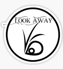 Look away Sticker