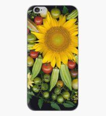 Sunflower, Okra Mosaic iPhone Case
