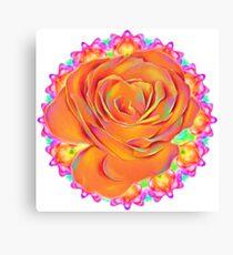 Psychedelic Rose Mandala  Canvas Print