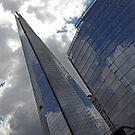 London Shard through Sky by Arvind Singh