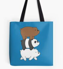 We Bare Bears- Stacked On the Move Tote Bag