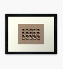 Eadweard Muybridge – 1830-1904 – Locomotion Theory – Horse and Jump – Beige Framed Print