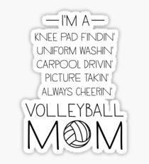 Volleyball mom checklist Sticker