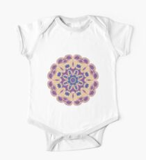 Colorful mandala violet and orange One Piece - Short Sleeve