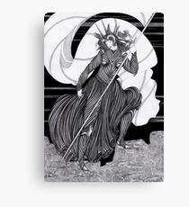 Woman with a flag  Canvas Print