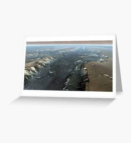 Valles Marineris, der Grand Canyon des Mars. Grußkarte