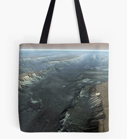 Valles Marineris, der Grand Canyon des Mars. Tote Bag