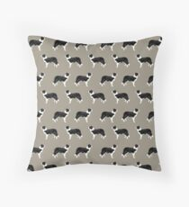 Border Collie dog pattern pet friendly dog art dog lover gifts with favorite dog breeds by PetFriendly Throw Pillow