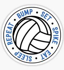 Bump. Set. Spike. Eat. Sleep. Repeat.  Sticker