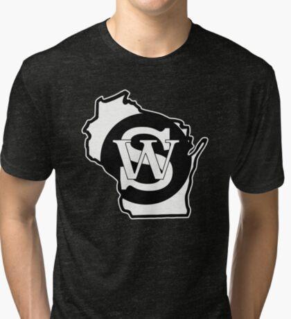 Wisconsin Skinny State Pride Tri-blend T-Shirt