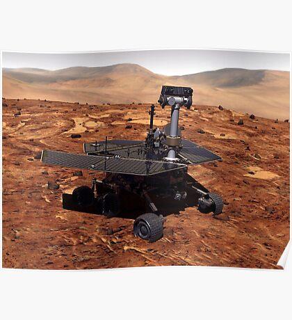 Künstler-Wiedergabe von Mars Rover Poster