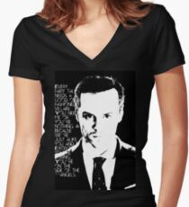 james moriarty Women's Fitted V-Neck T-Shirt