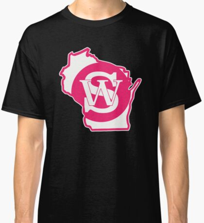 Wisconsin Skinny State pride pink Classic T-Shirt