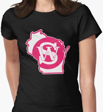 Wisconsin Skinny State pride pink T-Shirt