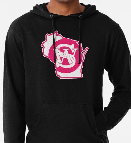 Wisconsin Skinny State pride pink Lightweight Hoodie