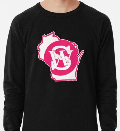 Wisconsin Skinny State pride pink Lightweight Sweatshirt