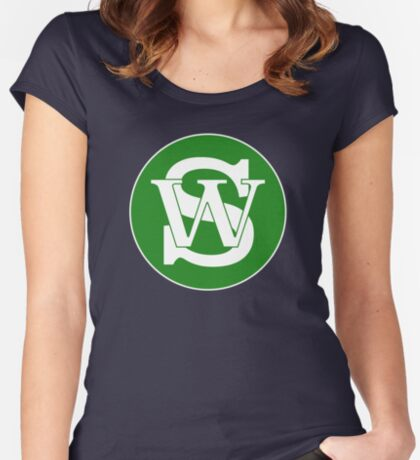 Wisconsin Skinny Pride Green Women's Fitted Scoop T-Shirt