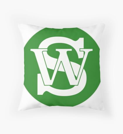 Wisconsin Skinny Pride Green Throw Pillow