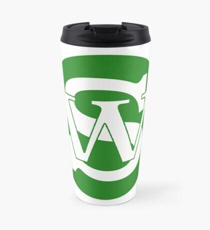 Wisconsin Skinny Pride Green Travel Mug