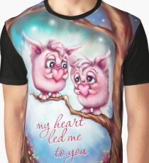 My Heart Led Me to You - Valentine Monsters Graphic T-Shirt