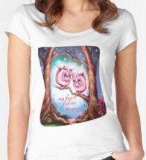My Heart Led Me to You - Valentine Monsters Women's Fitted Scoop T-Shirt