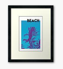 BEACH PALM PHOTOGRAPHY Framed Print