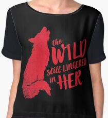 """The Wild Still Lingered In Her"" Women's Chiffon Top"