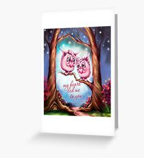 My Heart Led Me to You - Valentine Monsters Greeting Card