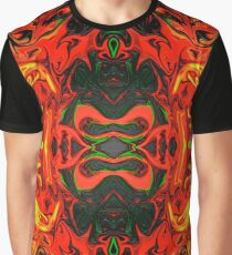 Red and Yellow Fractal Fun Graphic T-Shirt
