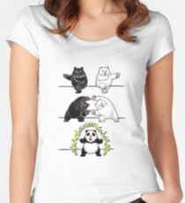 Panda Fusion Women's Fitted Scoop T-Shirt
