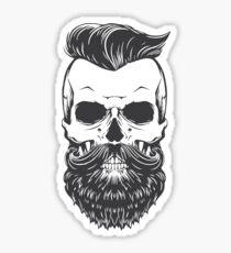 Vintage Hipster Skeleton Sticker