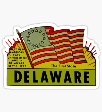 Delaware The First State Vintage Travel Decal Sticker