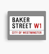 Baker Street Sign – 221B, Sherlock Canvas Print