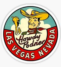 Las Vegas Vic Vintage Travel Decal Sticker