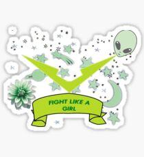 Voltron - Pidge Fight like a Girl Sticker