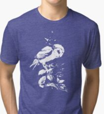 Moonlit Barn Owl Tri-blend T-Shirt