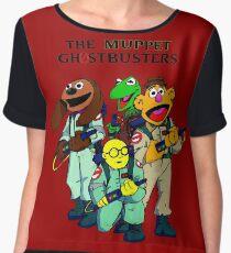 Muppet Ghostbusters Women's Chiffon Top