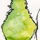 Pear abstract by Simon Rudd