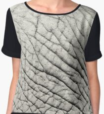 Elephant Skin Abstract Texture Background Women's Chiffon Top