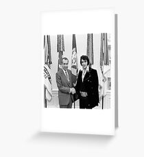 Elvis Meeting Nixon (1970) Greeting Card