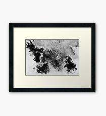 Splattered Framed Print