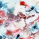 Red and blue abstract by Simon Rudd