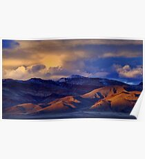 Palomino Valley Winter Sunset  Poster