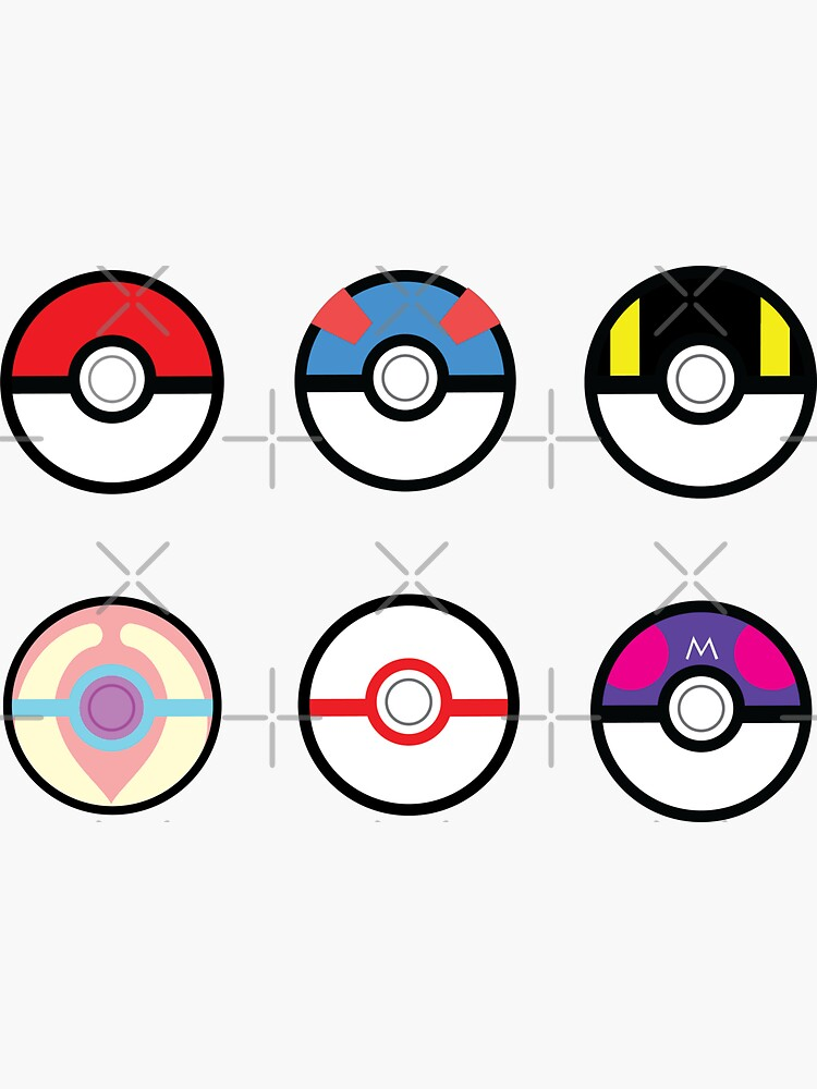Pokeball Set with Heal Ball by snidget