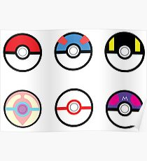 Pokeball Set with Heal Ball Poster