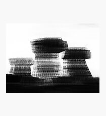 Blurred Buildings Photographic Print