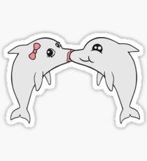 friend couple couple girlfriend kiss kissing smooching love in love girl female woman girl sexy hot hot loop sweet cute comic cartoon baby child small dolphin Sticker