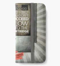 Blow the cartridge iPhone Wallet/Case/Skin