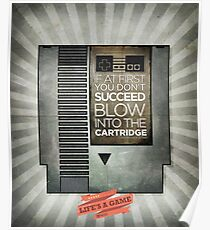 Blow the cartridge Poster